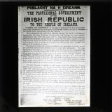 The proclamation of the Provisional Government issued at the GPO on 24 April 1916