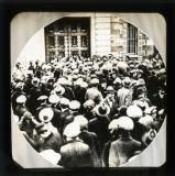 Crowd outside Mountjoy Prison, Dublin, April 1920