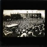 Crowds outside Mountjoy Prison, Dublin, demonstrating for the release of the hunger strikers, 1920