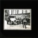 'A motorcar being examined by an army picket'