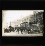 'Armoured cars and fixed bayonets in Sackville Street, Dublin', Nov/Dec 1920