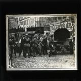 'A military raid in Dublin - Armoured cars and soldiers clearing the street', Nov/Dec 1920