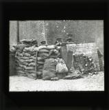 'A street barricade held by the Irish National Army, July 1922'