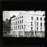 'Moran's Hotel, at the corner of Talbot and Gardiner Streets, was the scene of some of the earliest fighting, and suffered severly, a mine being exploded in the basement.', 1922