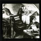 Illustration showing the operation of an illegal printing press