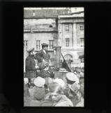 Lenin with Kamenev, addressing a meeting