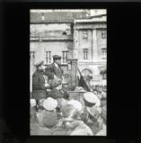Lenin with Kamenev, addressing a meeting
