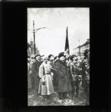 Lenin at the unveiling of the Marx - Engels monument, 1918