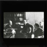 Lenin at his desk as the Chairman of the Council of People's Commissars
