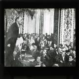 Lenin speaking at the second congress of the Communist International (Comintern), 1920