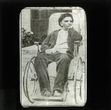 Lenin in wheelchair after suffering from a stroke in 1922