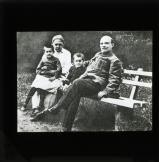 Lenin with wife Krupskaya, nephew Victor and a worker's daughter Vera, in Gorki Leninskiye during 1922