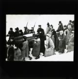 Russian Red Army soldiers accompany Lenin's coffin