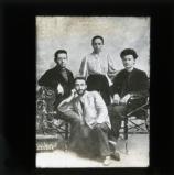 Trotsky with Ilya Sokolovsky, Dr Ziv and Alexandra Sokolovskaya