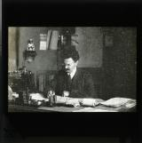 Trotsky at desk
