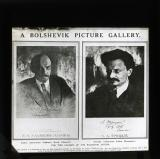 Portraits of Lenin and Trotsky