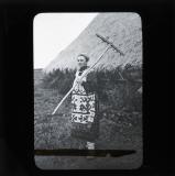 Woman haymaking