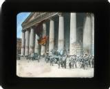 Troops outside the Bolshoi, Moscow