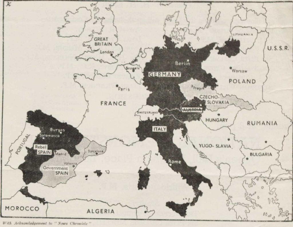 Image of: Spanish Civil War Maps Modern Records Centre University Of Warwick