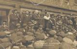 Liverpool strike, 1911: Tom Mann addressing strikers [MSS.334/12/39]