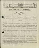 The Ethiopian Hospital: An appeal, 1944 (page 1)