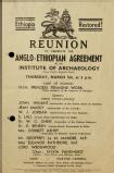 Reunion to celebrate the Anglo-Ethiopian agreement, 1942