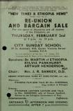 Reunion and bargain sale, 1939