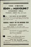 The crisis: Eden or Mussolini?, 1938