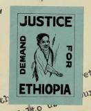 Sticker on Abyssinia Association letter, 1937