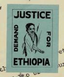 Sticker on Abyssinia Association letter, 1937