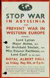 Stop war in Abyssinia and prevent war in Western Europe, 1936