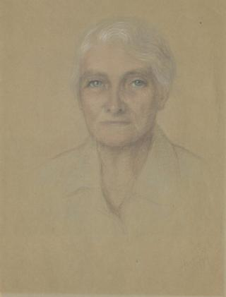Portrait by Honor Earl of Dame Eileen Younghusband, social worker and writer, 1979 (1077/1)