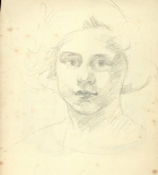 Sketch by Ruth Gollancz of her daughter Vita, nd (in MSS.157/6/RG/4)