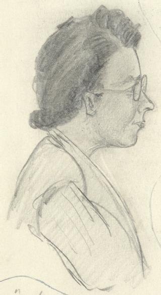 Sketch by A P Young (part of MSS.242/MI/8xx)