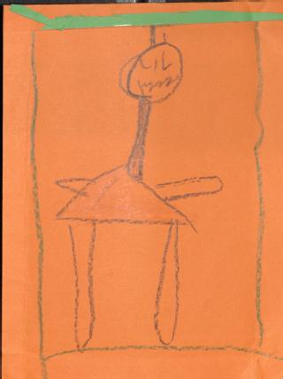 Drawing by child visiting imprisoned relative (Frances Moira MacLean papers:  1058/2)