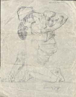 Drawing by Jagger [either Charles or David], 1915 (Ruth Gollancz papers: MSS.157/6/RG/6/1)