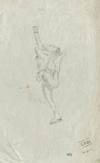 Sketch by William Henry Stokes, 1960 (in MSS.289/14/2)