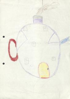 Drawing by child visiting relative in prison (Frances Moira MacLean papers: in 1058/42)
