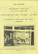 WUS conference on education and social change 1980