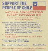 Chile Solidarity Campaign demonstration 1974