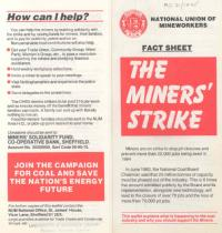 'The Miners' Strike', National Union of Mineworkers' fact sheet, 1984