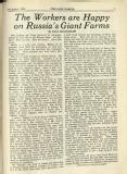 1930-12: 'The workers are happy on Russia's giant farms' by Joan Beauchamp