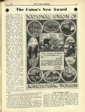 1933-07: 'The union's new award', National Union of Agricultural Workers