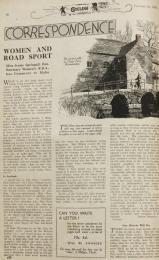 Cycling, 12 January 1938