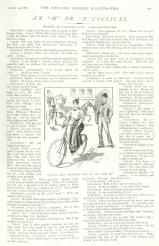 The Cycling World Illustrated, 19 Aug 1896