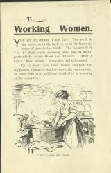 To working women [MSS.420/BS/7/12/10]