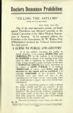 Doctors denounce prohibition. Filling the asylums [MSS.420/BS/7/12/12]