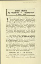 Some moral by-products of prohibition by Frederic J Haskin [MSS.420/BS/7/12/22]