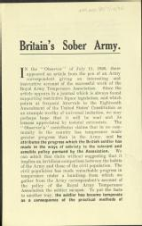 Britain's sober army [MSS.420/BS/7/12/32]