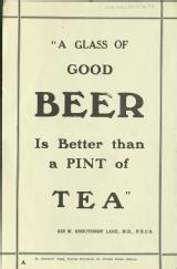 A glass of good beer is better than a pint of tea [MSS.420/BS/7/12/34]